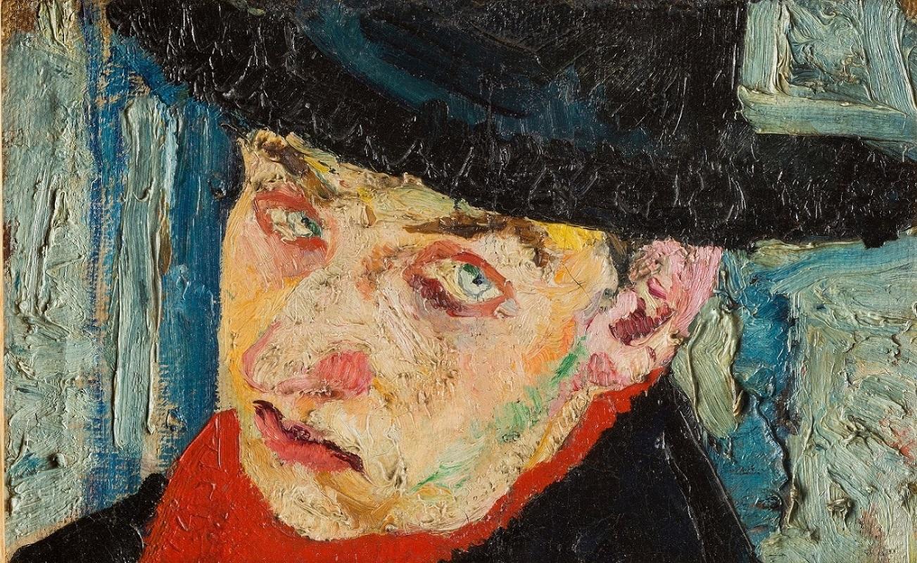 Fausto Pirandello, Autoritratto, 19.5 x 32 cm. Galleria Arte Moderna, Milano