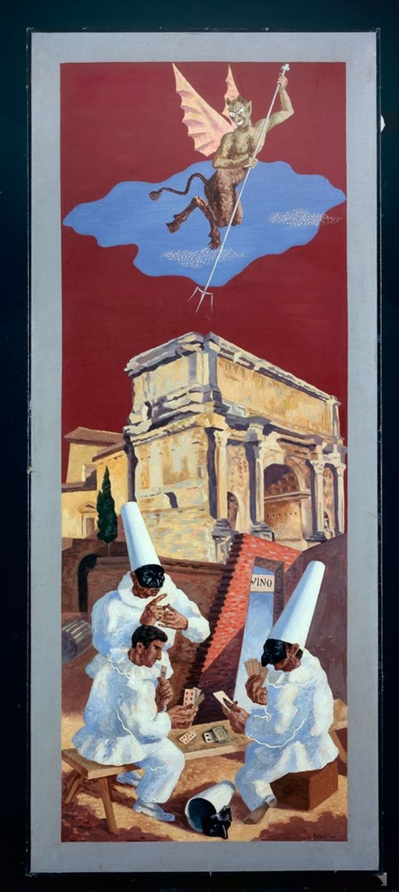 Gino Severini, Le demon du jeu, 1928 © Pinacoteca di Brera, Milano
