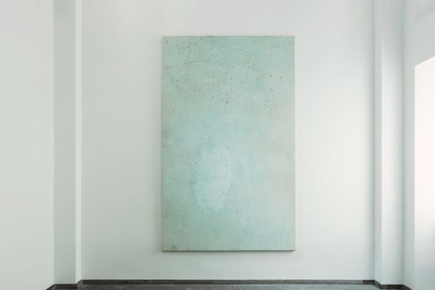 Lawrence Carroll Grotte Paintings 2017 House paint and dust on canvas on wood 290 x 178 x 4 cm / 114 1/4 x 70 x 1 1/2 in Signed and dated verso: Carroll 2017 © Lucy Jones Carroll Courtesy Galerie Karsten Greve Köln Paris St. Moritz