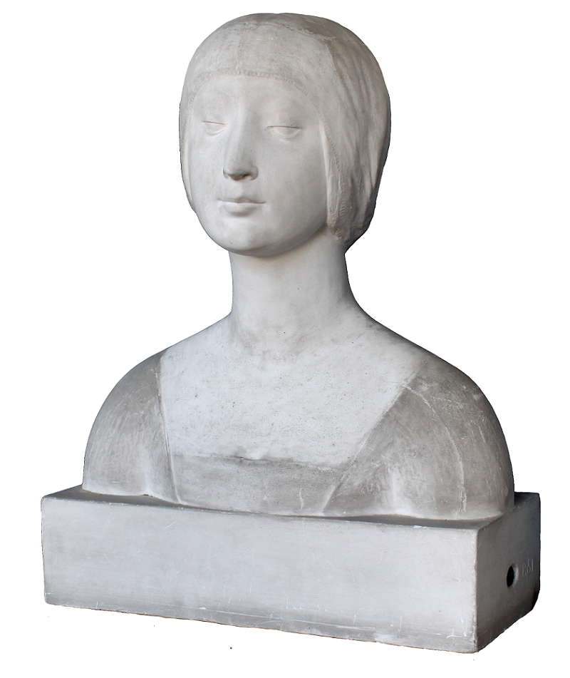 "Ignoto, Secolo XX (ante 1901), da Francesco Laurana, Busto di Gentildonna Gesso, 52x43x24 cm. Museo Regionale Archeologico ""Antonino Salinas"", Palermo"