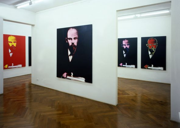 Installation View, exhibition Lenin by Warhol, Galerie Klüser, 1987, Photo Philipp Schönbor_Courtesy Galerie Klüser