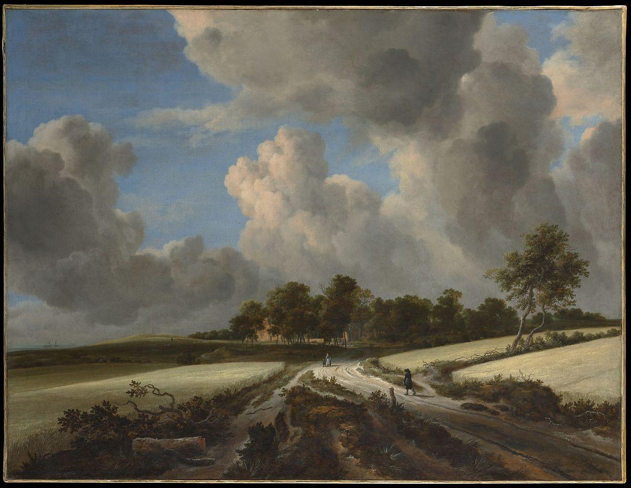 Jacob van Ruisdael, Campi di grano, 1670 ca.