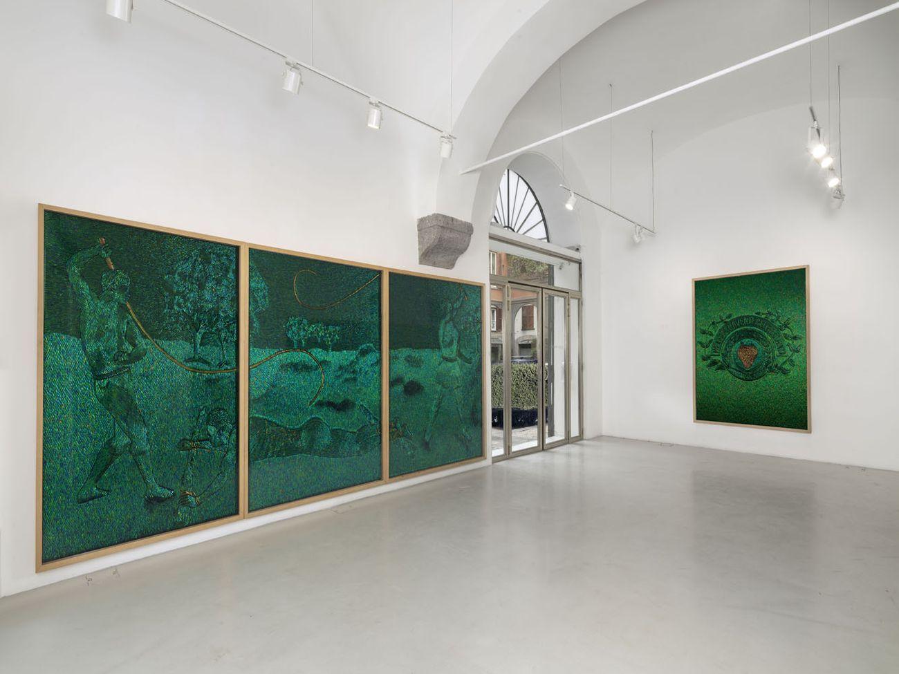 Jan Fabre, Omaggio a Hieronymus Bosch in Congo, 2019. Installation view at Studio Trisorio, Napoli 2019 © photo Grafiluce - L. Romano 2019