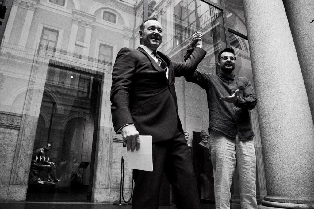 Kevin Spacey e Gabriele Tinti, MNR, courtesy Mauro Maglione