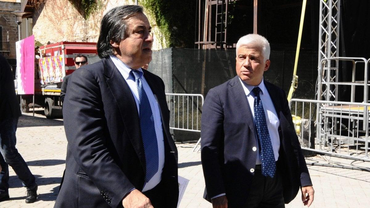 Leoluca Orlando con Francesco Giambrone