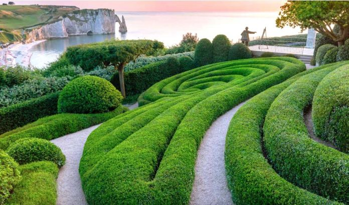 Les Jardins d'Étretat. Sculture vegetali. Photo Claudia Zanfi
