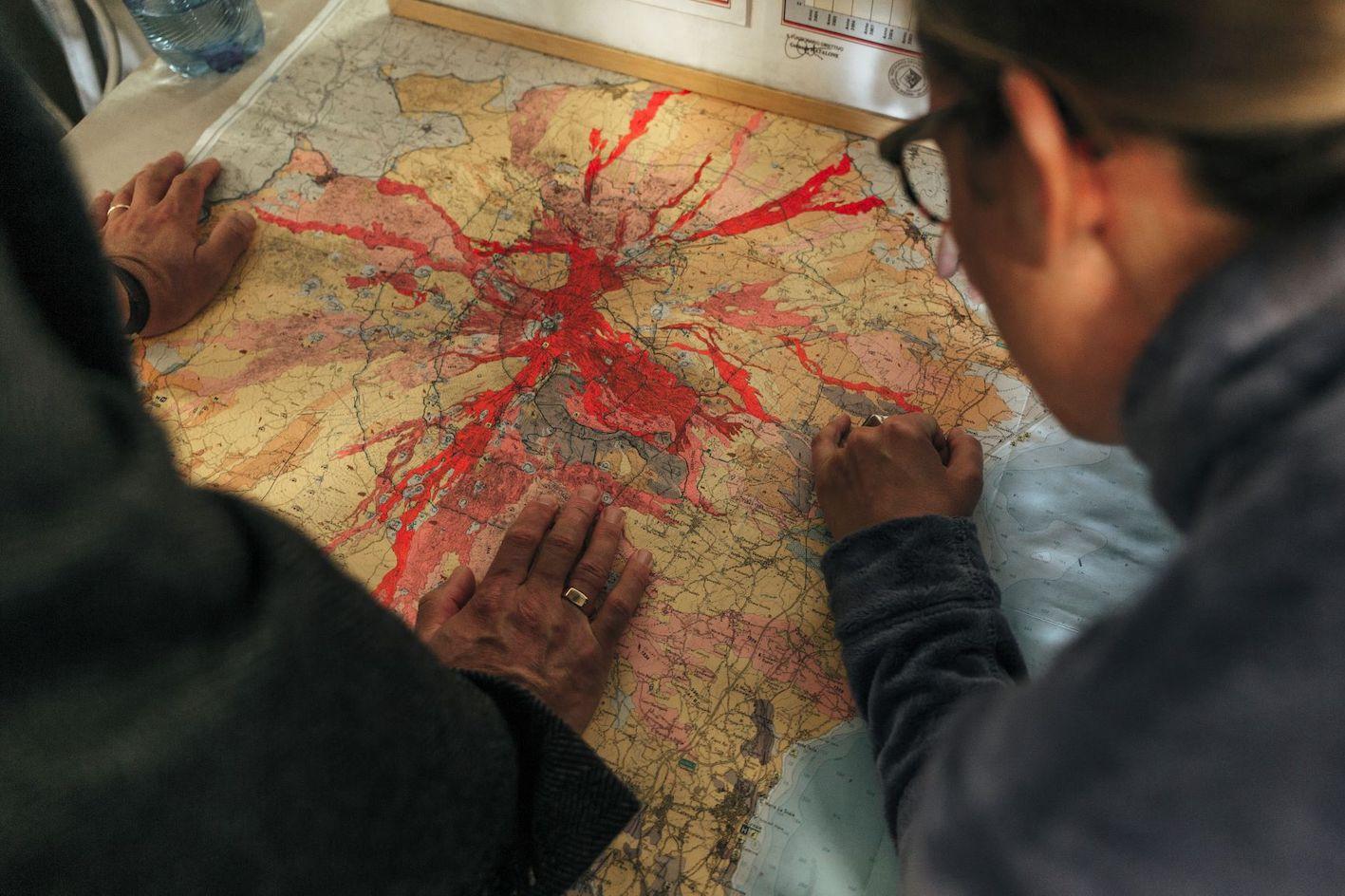Mappa Eruzioni Etna - foto di Roselena Ramistella