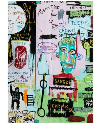 Mattel UNO® Artiste Series No. 1 featuring Jean Michel Basquiat Copyright Estate of Jean Michel Basquiat. Licensed by Artstar New York