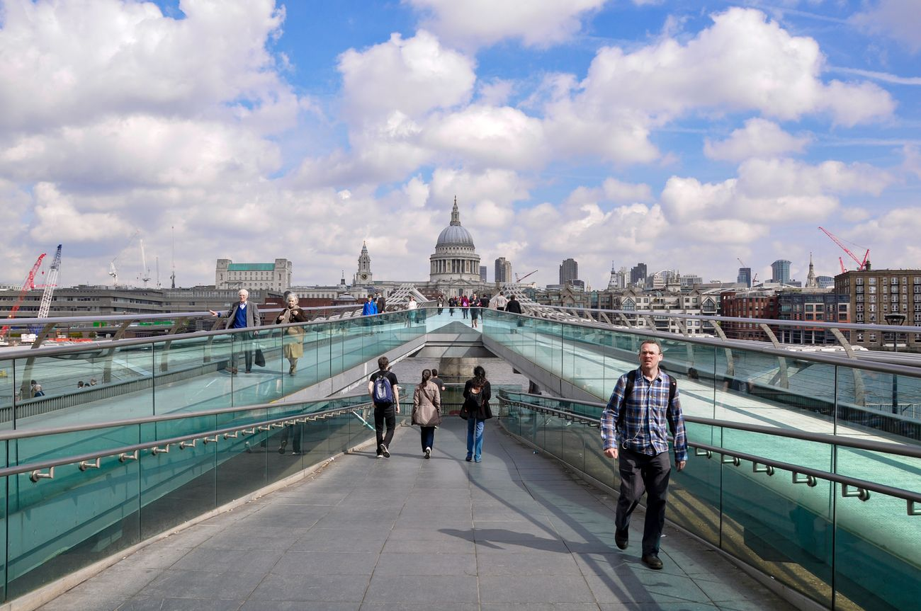 St. Paul e Millenium Bridge, Londra. Photo © Irene Fanizza