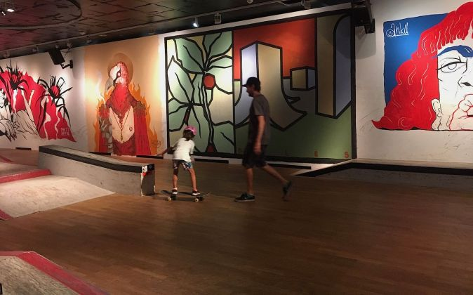 Street Art & Skateboarding. Exhibition view at Wien Museum, 2019