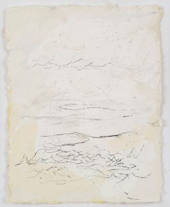 Lawrence Carroll Untitled 2014 – 2017 House paint, ink and silverpoint on paper 18 x 14 cm / 7 x 5 1/2 in Frame: 48,5 x 44,3 x 3,2 cm Signed, dated and inscribed verso upper right: Lawrence Carroll, 2014 – 2017, Bolsena © Lucy Jones Carroll Courtesy Galerie Karsten Greve Köln Paris St. Moritz