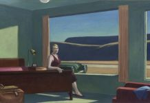 Western Motel, 1957, Edward Hopper (American, 1882–1967), oil on canvas. Yale University Art Gallery, New Haven, Bequest of Stephen C. Clark, B.A., 1903. © 2019 Heirs of Josephine N. Hopper / Artists Rights Society (ARS), NY