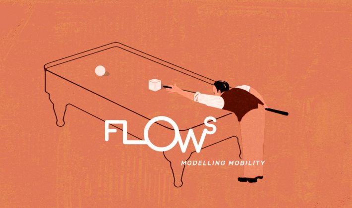 Web design di Alizarina per Flows magazine illustrazione
