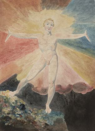William Blake, Albion Rose c. 1793, Courtesy of the Huntington Art Collections