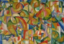 Amadeo de SOUZA-CARDOSO Cavaleiros (Riders) 1913 Oil on canvas © Philippe Migeat - Centre Pompidou, MNAM-CCI /Dist. RMN-GP
