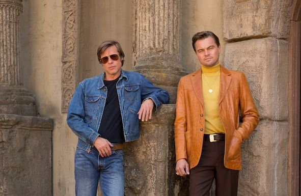 "Brad Pitt and Leonardo DiCaprio star in Columbia Pictures ""Once Upon a Time in Hollywood"""