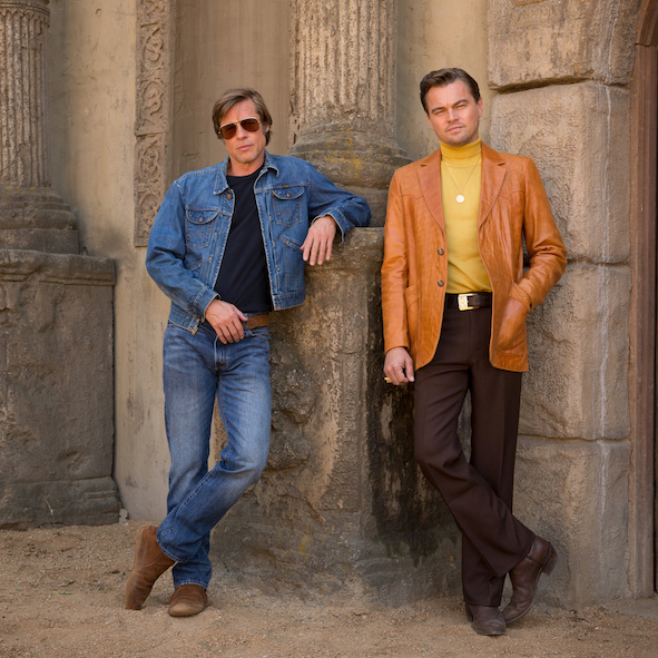"""Brad Pitt and Leonardo DiCaprio star in Columbia Pictures """"Once Upon a Time in Hollywood"""