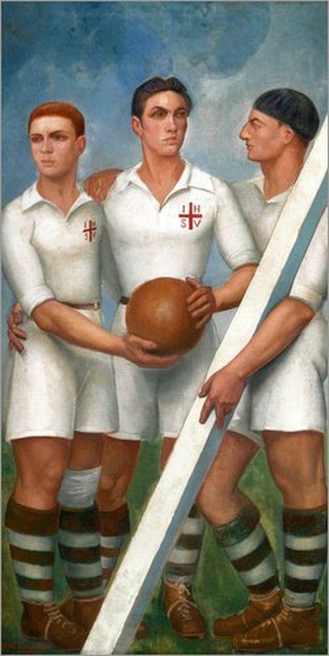 Ángel Zárraga, Futbolistas, 1931. Collezione privata