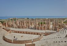 The theatre at Leptis Magna, Libya February 2018 © FDD ICONEM / MAFL / DOA