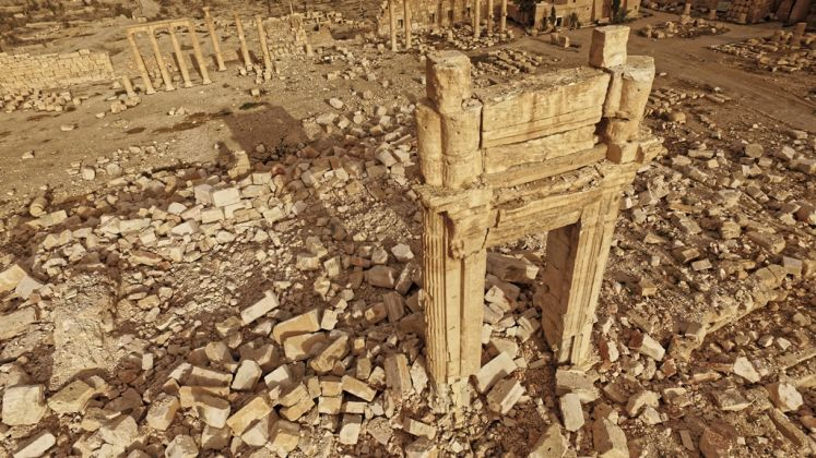 The temple of Bel after its destruction by IS, April 2016 Palmyra, Syria © ICONEM / DGAM