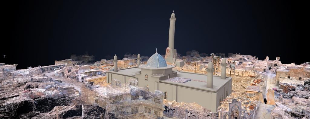 3D image of the Al-Nouri-Mosque in Mosul, Iraq © UNESCO / IMA
