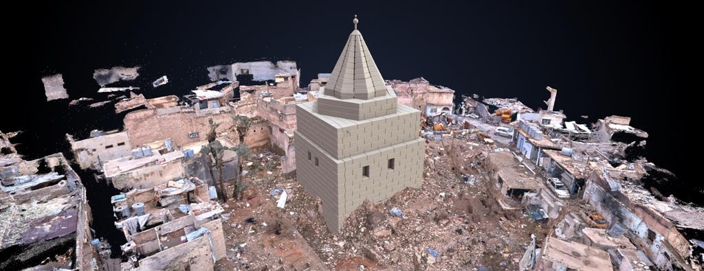 3D image of the Shrine of Imam 'Awn al-Din in Mosul, Iraq © UNESCO / IMA