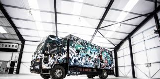 Banksy Turbo Zone Truck, courtesy Press Bonhams