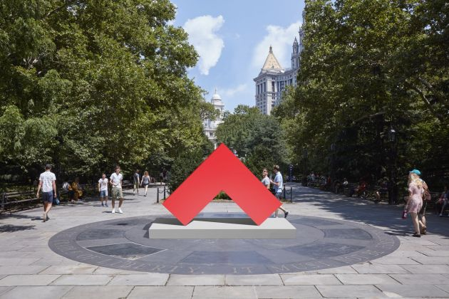 Carmen Herrera, Angulo Rojo, 2017, rendering © Carmen Herrera. Courtesy Lisson Gallery. Image Courtesy of Public Art Fund, New York