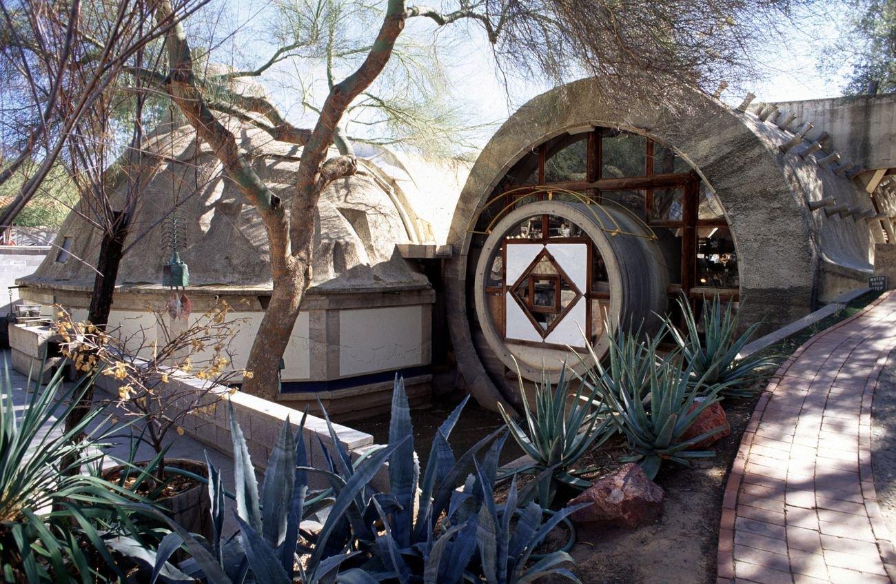 Cosanti, Pumpkin Apse & Barrel Vaults, 1968-1971. Photo credit Cosanti Foundation