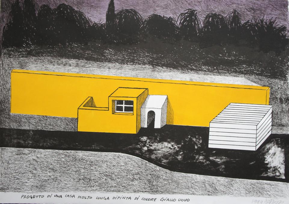 Edizioni Lithos, Ettore Sottsass, Progetto di una casa dipinta giallo uovo