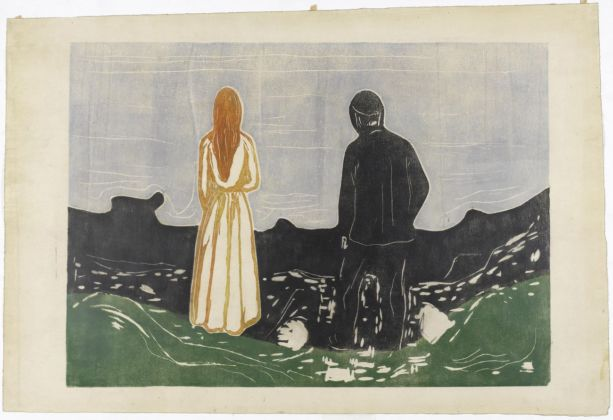 Edvard Munch, Due persone sole, 1899. Collezione privata, courtesy Galleri K, Oslo. Photo Reto Rodolfo Pedrini