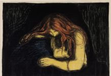 Edvard Munch, Vampiro II, 1895-1902. Collezione privata, courtesy Galleri K, Oslo. Photo Reto Rodolfo Pedrini