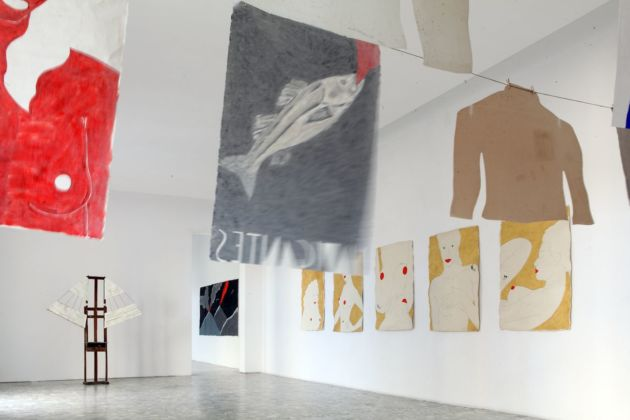 Ernesto Tatafiore. Exhibition view at CasaMadre Arte Contemporanea, Napoli 2019. Courtesy dell'artista & CasaMadre Arte Contemporanea, Napoli. Photo Peppe Avallone
