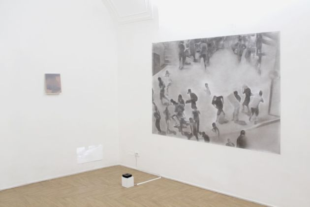 Ettore Pinelli, Un luogo sconosciuto. Installation view at Ritmo. Courtesy Ritmo