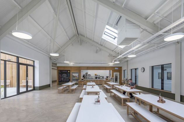 Feilden Fowles, Charlie Bigham's Food Production Campus, Dulcote, Somerset. Photo Peter Cook