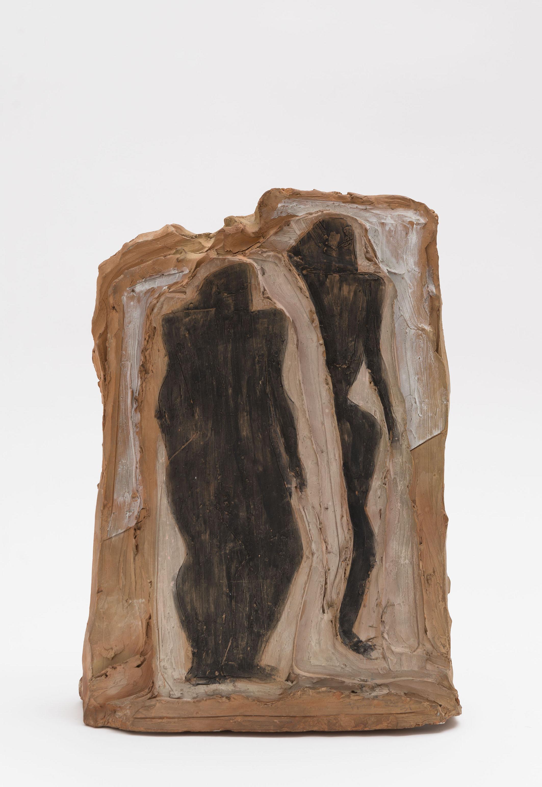Lucio Fontana, Figure nere, 1937. Painted terracotta, 41 x 30 x 12.5 cm. © Fondazione Lucio Fontana by SIAE 2019 Courtesy Fondazione Lucio Fontana, Milano Photo: Daniele De Lonti