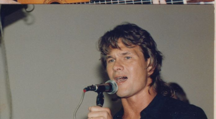 I AM Patrick Swayze Patrick Gatlin Behind Mics Singing Courtesy Of The Swayze Family