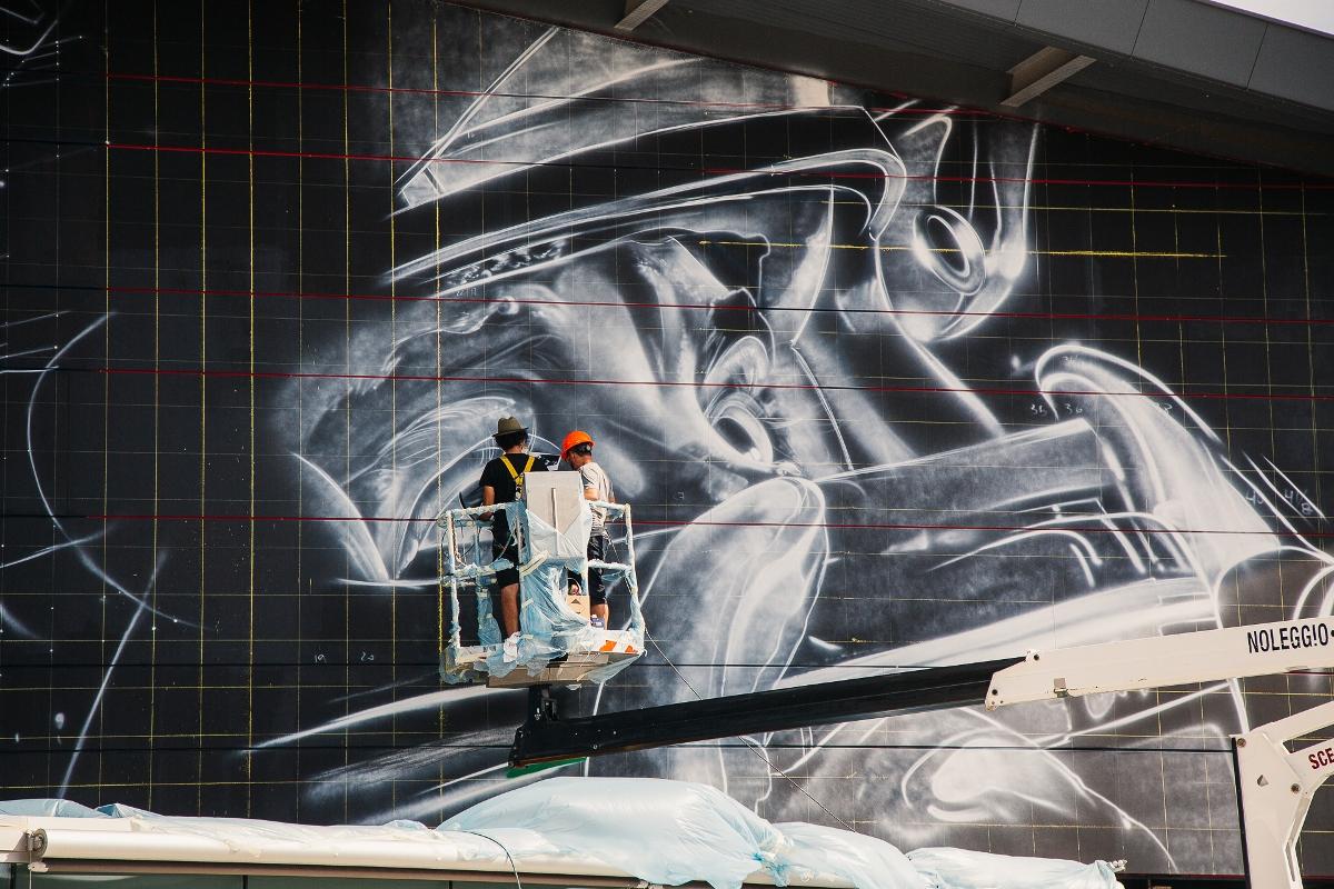 La Pittura Moderna Imola.25 Anni Senza Ayrton Senna Il Murale A Imola Artribune