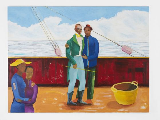 Lubaina Himid, Le Rodeur. The Captain and the Mate, 2017 18. Courtesy the artist & Hollybush Gardens. Photo Andy Keate