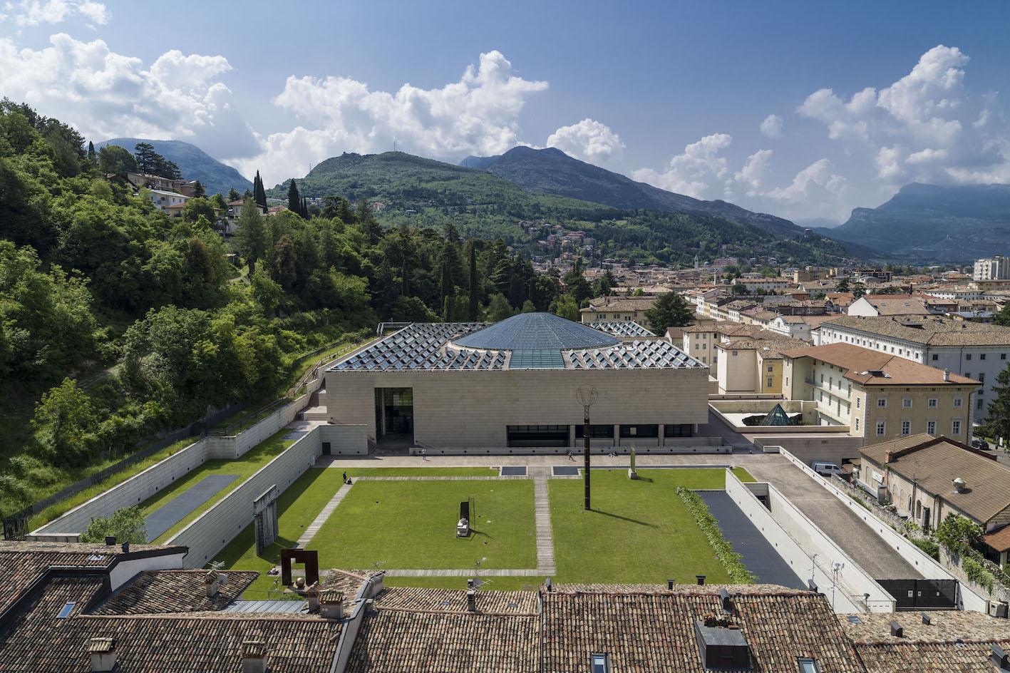 Mart Rovereto architettura drone_Ph crediti Mart, Jacopo Salvi