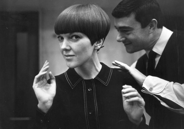 Mary Quant with Vidal Sassoon. Photo Ronald Dumont, 1964. Image © Ronald Dumont - Stringer - Getty Images