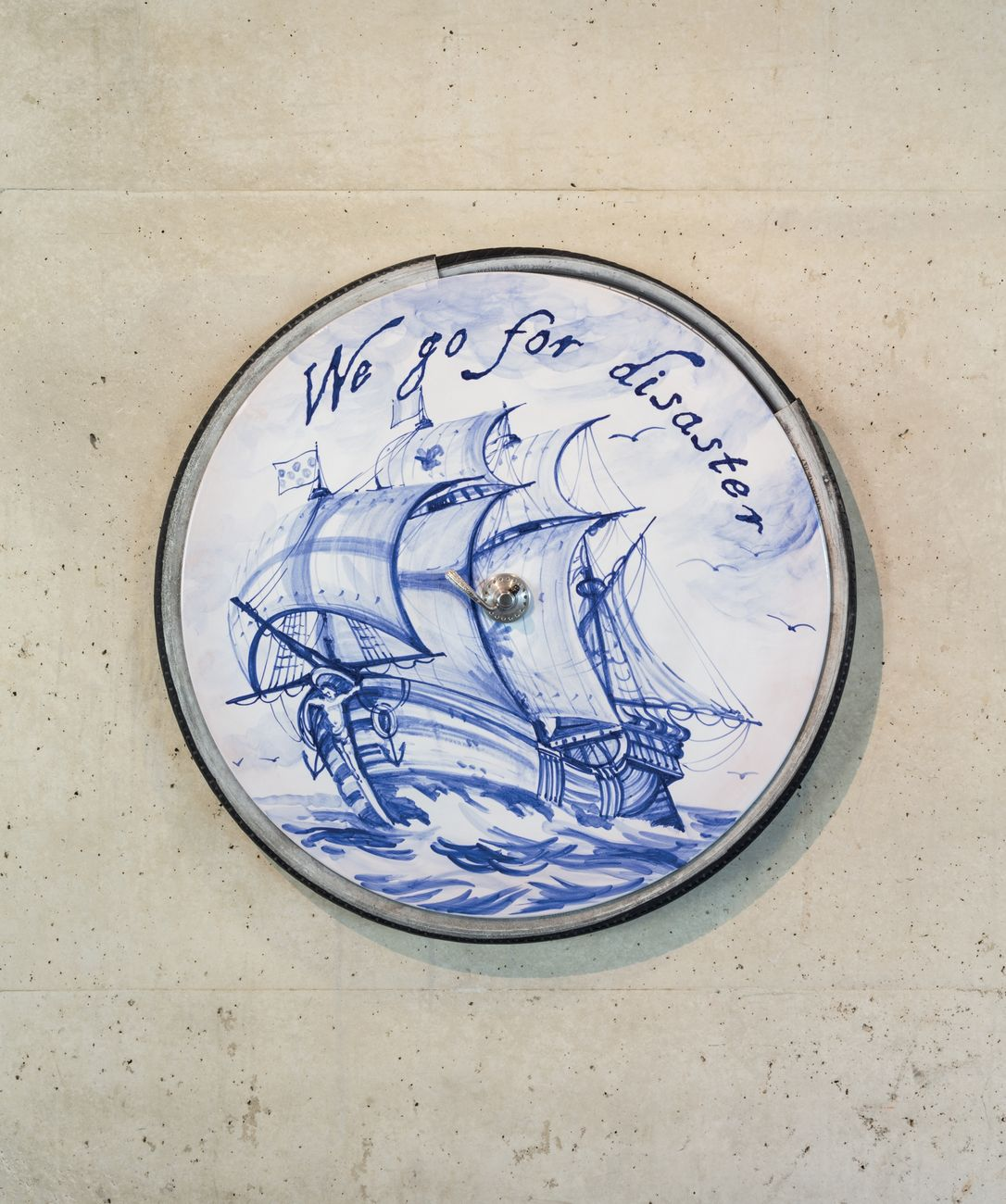 Nero/Alessandro Neretti, one bicycle wheel. we go for disaster, 2017. Museum Beelden aan Zee, L'Aja. Courtesy the artist. Photo Andrea Piffari