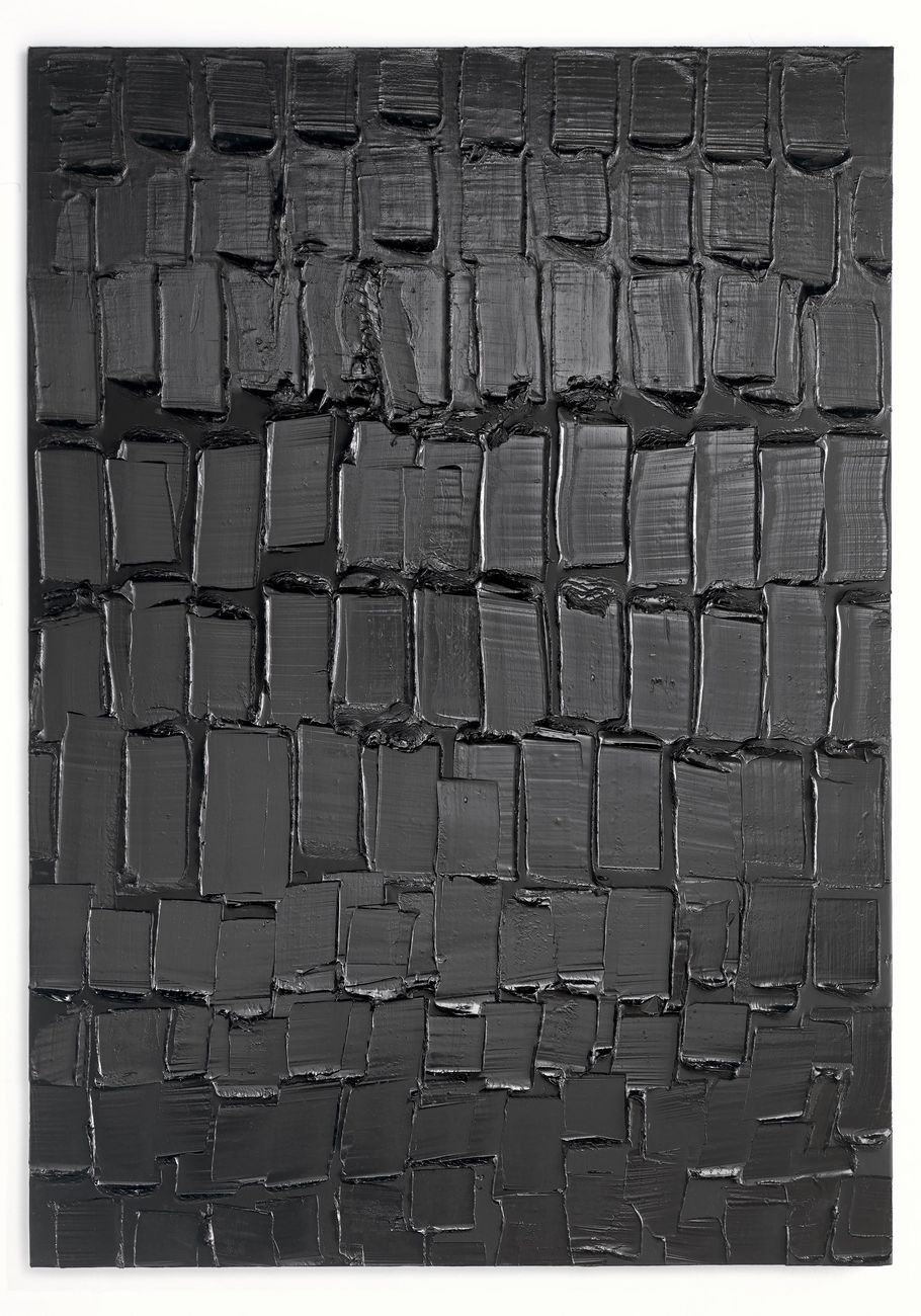Pierre Soulages, Peinture 202 x 143 cm, 5 avril 2019. Courtesy Lévy Gorvy, New York