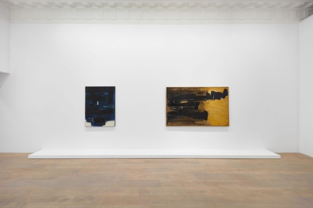 Pierre Soulages. A Century. Installation view at Lévy Gorvy, New York, 2019. Photo Tom Powel
