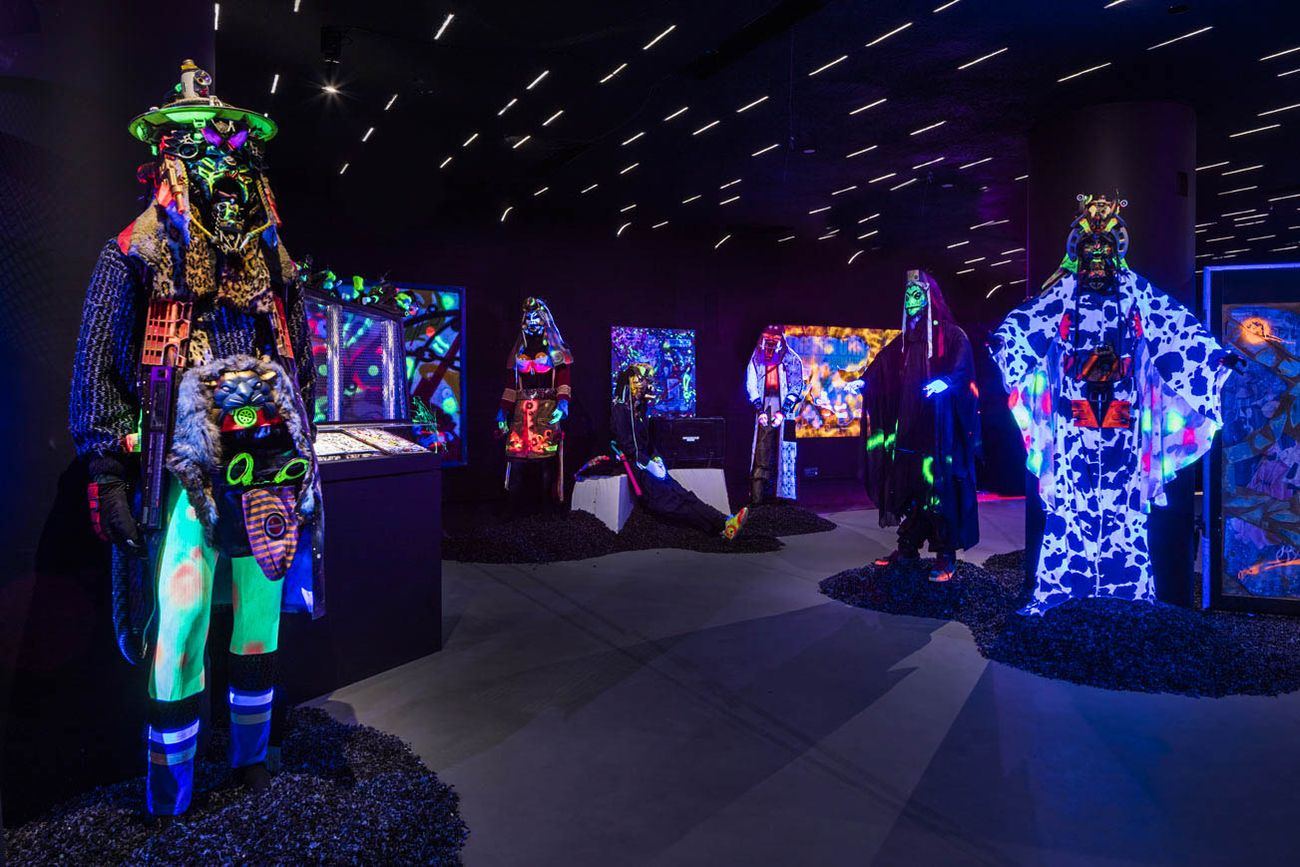 Rammellzee Racing for Thunder, Red Bull Arts, New York. Photo credits Lance Brewer. Courtesy of Red Bull Arts New York. All artwork © 2018 The Rammellzee Estate