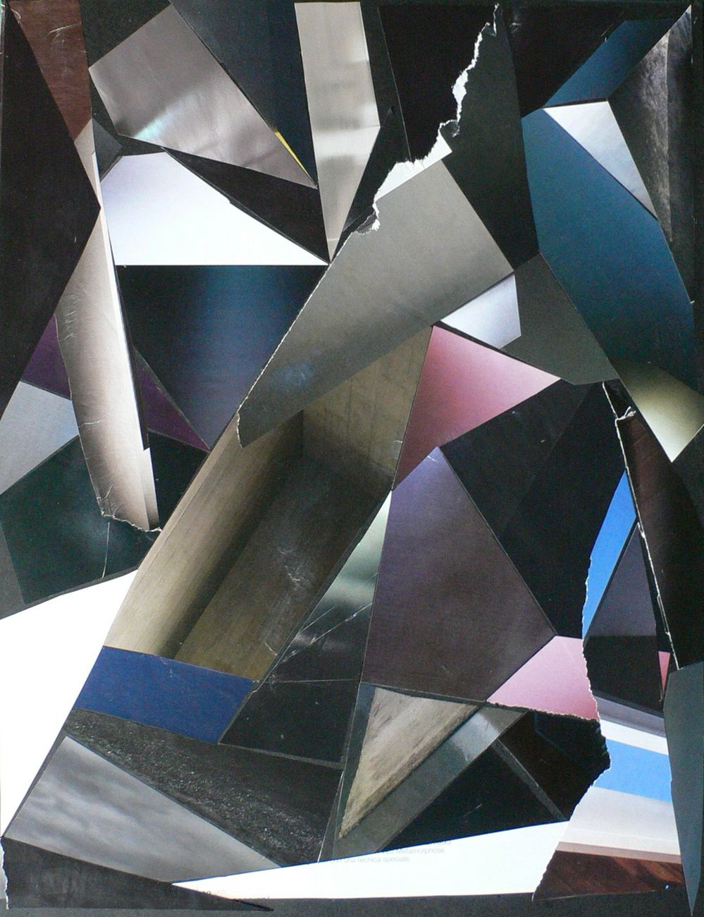Stanislao Di Giugno, Untitled, 2010, magazine paper on cardboard, 40x30 cm framed