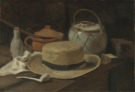 Stilleven met strohoed Vincent van Gogh eind november half december 1881, Kröller Müller Museum, Otterlo