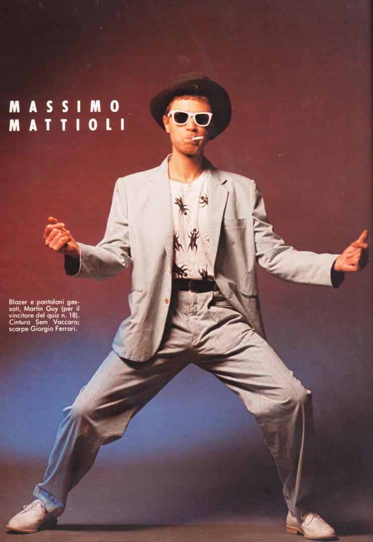 Un ritratto di Massimo Mattioli, dal magazine LUI (Condé Nast)