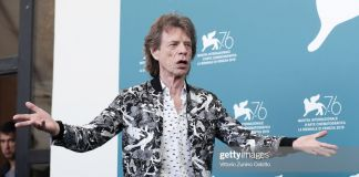 mick jagger attends the burnt orange heresy photocall