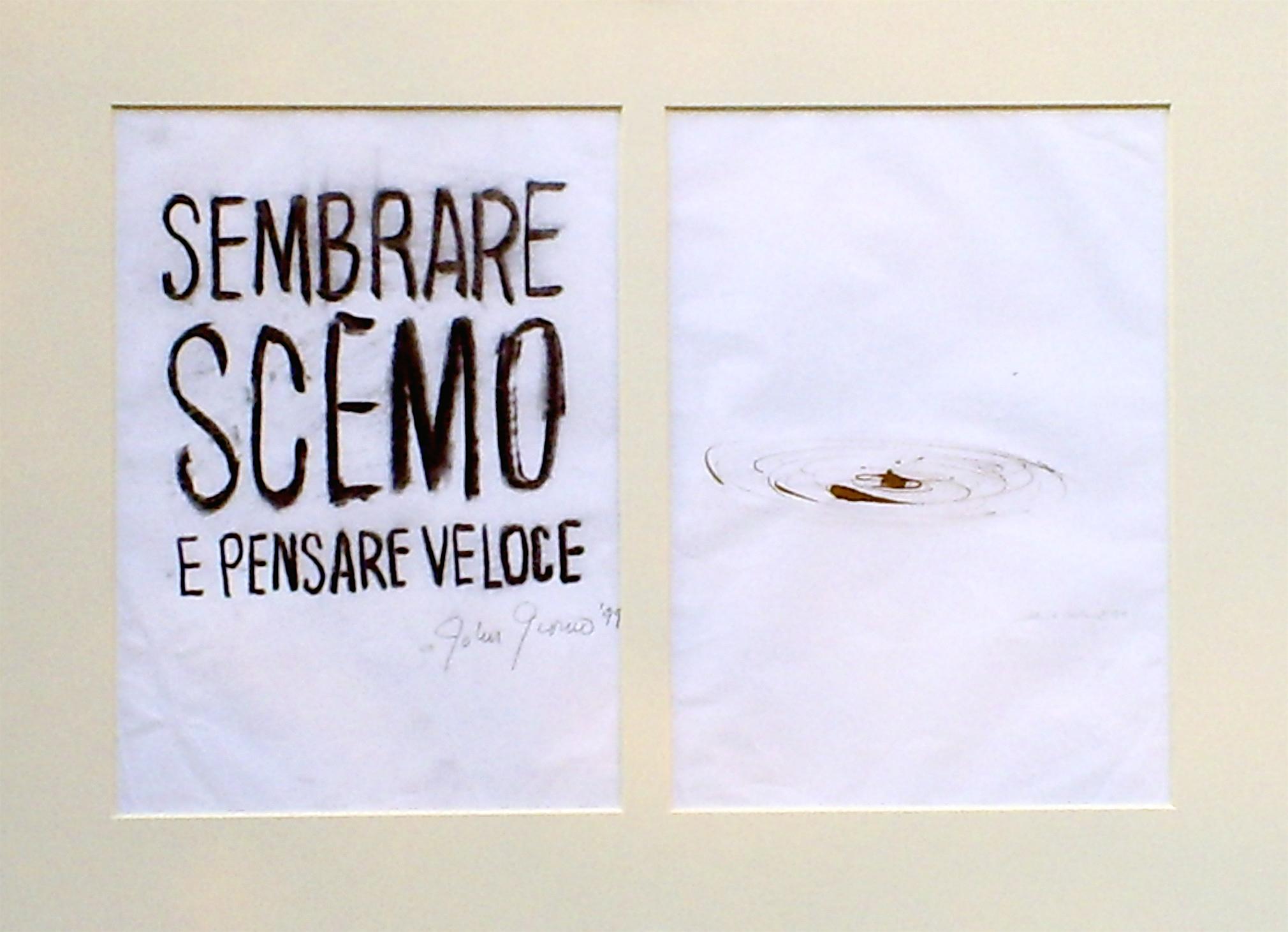 John Giorno e Manlio Capaldi, 1999 (cm 50x70)